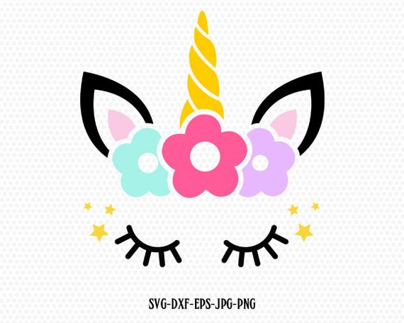Unicorn Svg Unicorn Head Svg Unicorn Flower Svg Cute