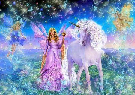 Unicorns Images Beautiful Unicorn And Fairy Wallpaper And