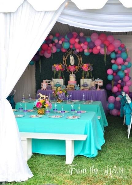 Vibrant Unicorn Birthday Party
