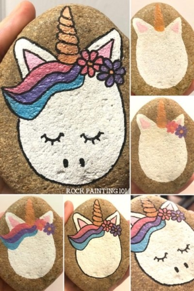 Watch How To Paint An Easy Unicorn Rock