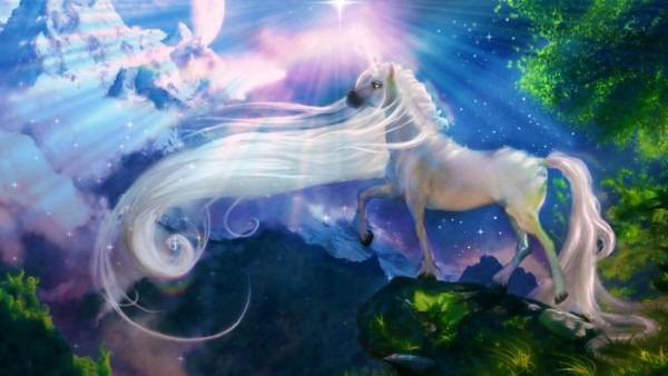 White Horse Unicorn Fantasy Art Wallpaper Hd   Wallpapers13 Com