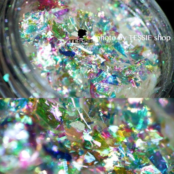Wholesale Multi Flakes Chrome Nail Galaxy Holo Flakes Rainbow