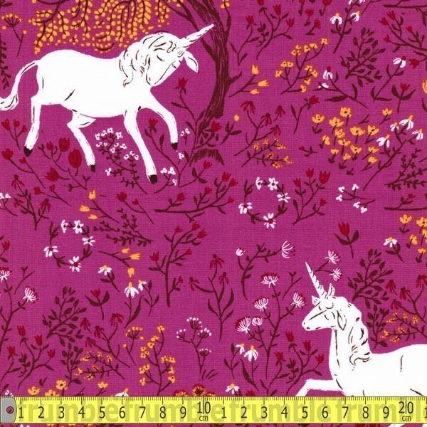 Windham Fabric Far Far Away Unicorn Purple Metre By Per Metre