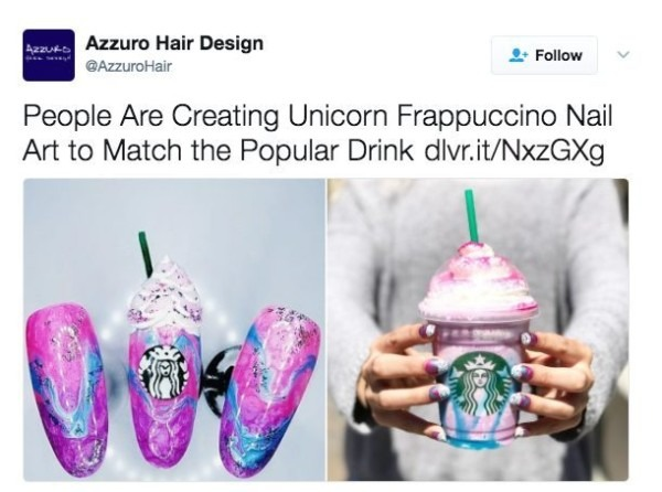 Yes, Starbucks Unicorn Frappuccino Nail Art Is A Thing