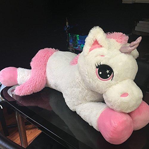 110cm Large White Pink Unicorn 43  Giant Fairy Plush Unicorn