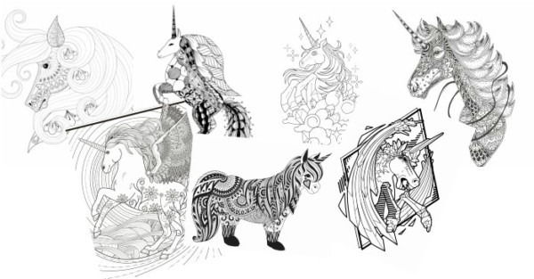 11 Free Printable Unicorn Coloring Pages For Adults