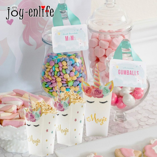 1st 2st 1birthday Party Mini Popcorn Boxes Unicorn Party Candy
