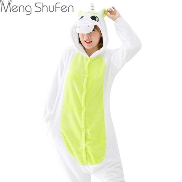 2017 Hot Wholesale Green Unicorn Onesie Adult Unisex Costume