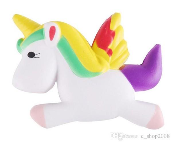2019 Kawaii Squishies Flying Jumbo Unicorn Pony Horse Kid Toys