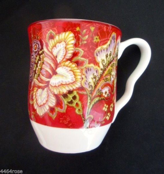 222 Fifth Gabrielle Red Coffee Mugs