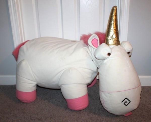 35  Huge Fluffy Unicorn Plush Agnes Despicable Me 2 Minions Toy