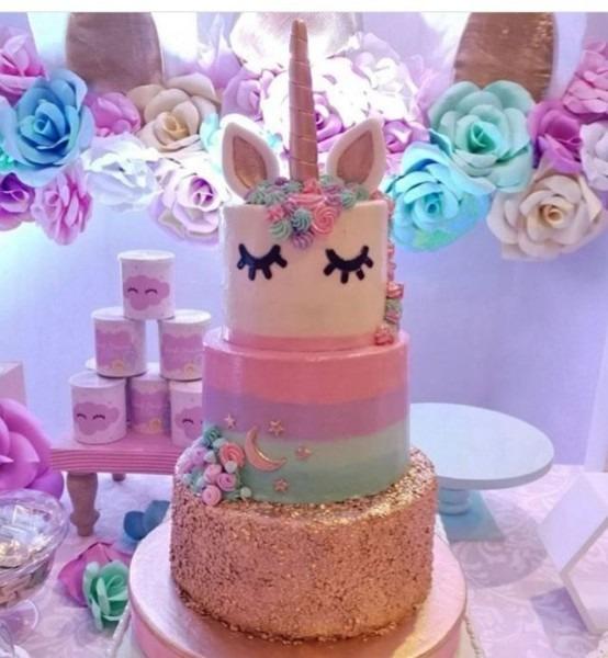 3 Tier Unicorn Cake! Gorgeous!