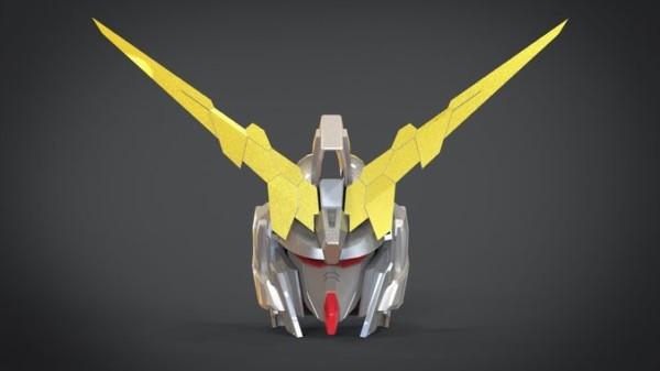3d Asset Gundam Unicorn Head