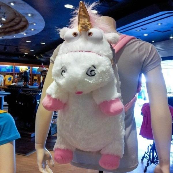 3d Despicable Me 2 Unicorn Plush Backpack Bag Despicable Me