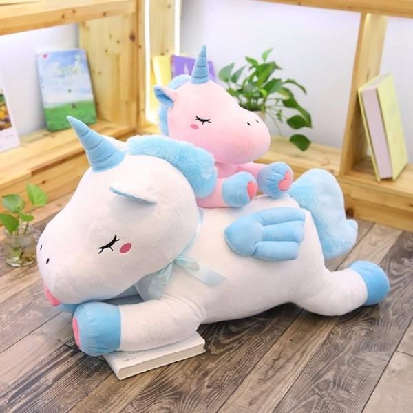 50cm 75cm Unicorn Plush Toy Soft Stuffed Cartoon Flying Unicorn