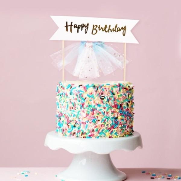 5pcs Bag Shiny Unicorn Cake Card Pentagram Insert Card Suit