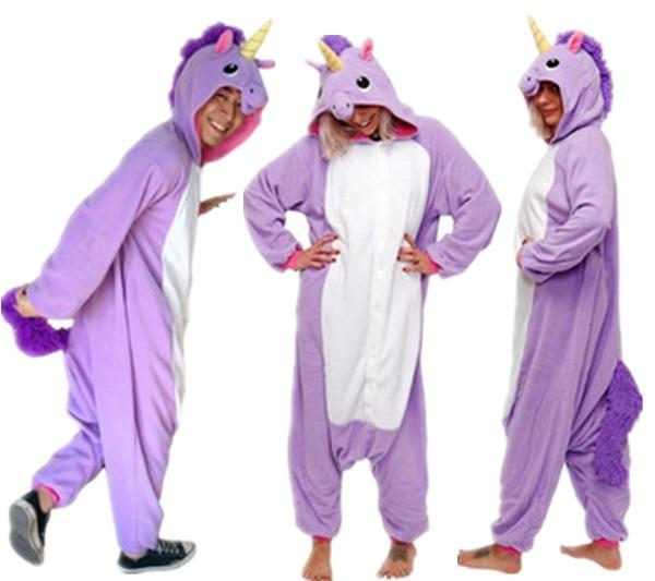 Adult Unisex Pijama Unicornio Purple Unicorn Onesies Pajamas