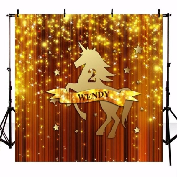 Aliexpress Com   Buy 5x7ft Photography Backdrop Unicorn Gold