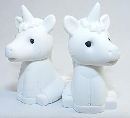 Amazon Com   2 White Unicorn Eraser By Iwako (2 Pieces) From Japan