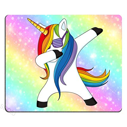 Amazon Com   Funny Unicorn Dance Mouse Pad Design, Galaxy Hipster