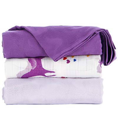 Amazon Com   Tula Baby Blanket Set, 3 Pack Of 47x47 Inches, 100