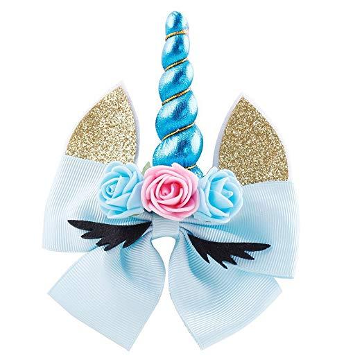 Amazon Com  Actlati Unicorn Hair Clip Flower Ears Barrette For