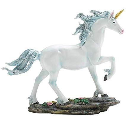 Amazon Com  Bestchoiceforyou Fantasy White Unicorn Figurine Statue