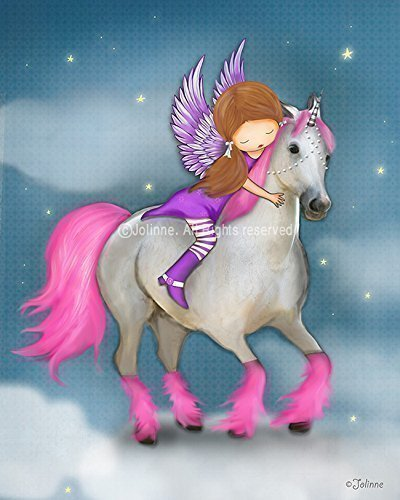 Amazon Com  Girls Wall Art Print Poster Unicorn Children's Room