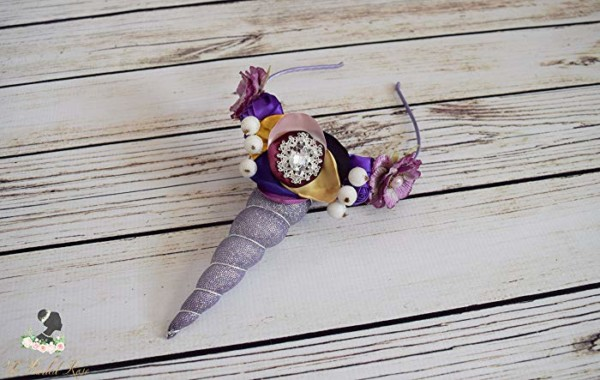Amazon Com  Handcrafted Purple Unicorn Horn Headband