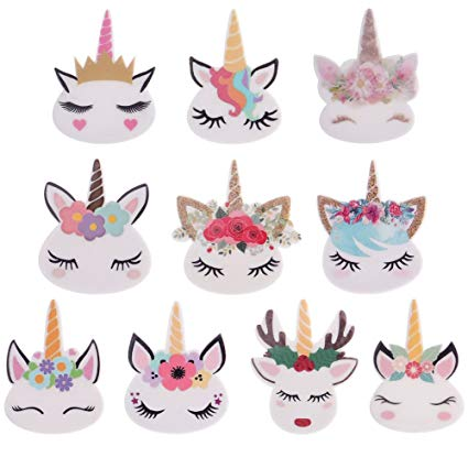 Amazon Com  Havenport 50 Pcs Unicorn Ornament Diy Crafts For Slime