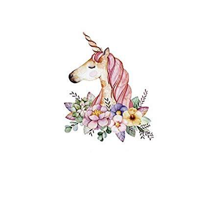 Amazon Com  Hmqd Unicorn Flower Patches Cartoon Iron On Transfer
