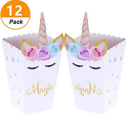Amazon Com  Jevenis (set Of 12) Magical Unicorn Party Favor Boxes