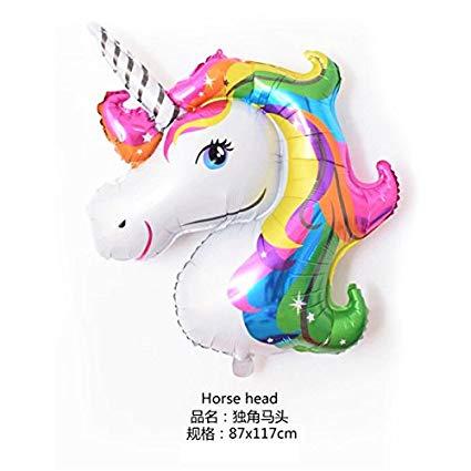 Amazon Com  Large Rainbow Unicorn Foil Balloons Helium Balloon