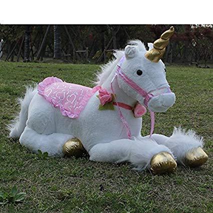 Amazon Com  Nikkycozie White 85cm Jumbo Unicorn Giant Plush Fairy