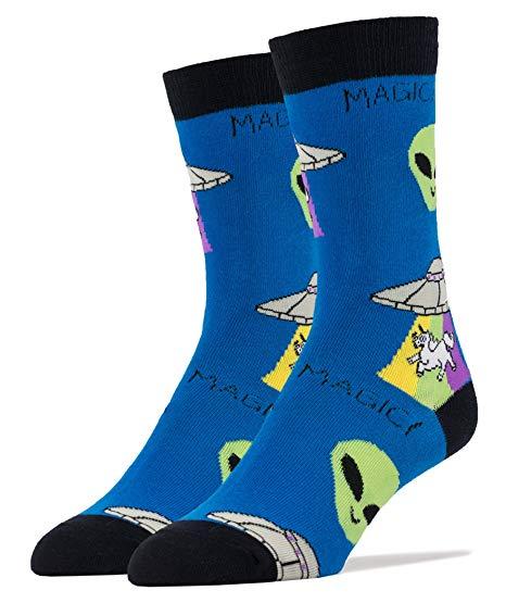 Amazon Com  Oooh Yeah Socks Mens Crew Funny Novelty Unicorn
