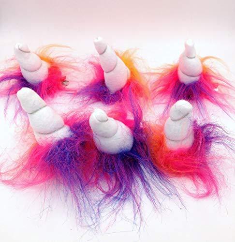 Amazon Com  Rainbow Unicorn Horn Hair Clip Party Pack  Handmade