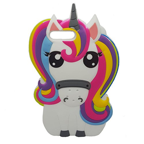 Amazon Com  Rainbow Unicorn Iphone 7 Plus Case, Iphone 8 Pluse