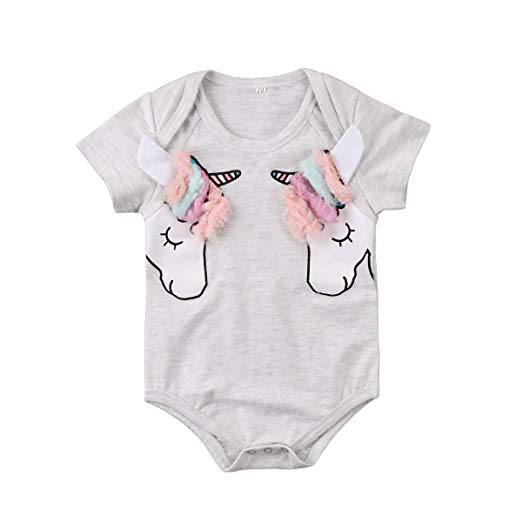 Amazon Com  Toddler Baby Boy Girl Clothes 3d Unicorn Romper
