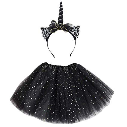 Amazon Com  Tongrui Unicorn Horn Headband Tutu Skirts Dress Multi