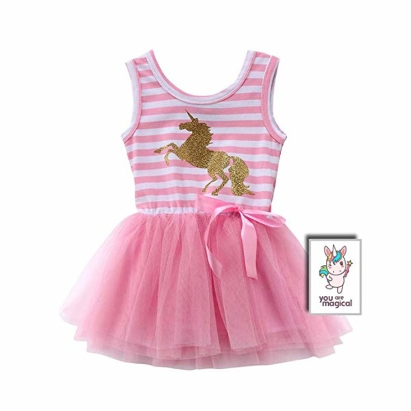 Amazon Com  Twinkletwinkle Pink Unicorn Tutu Dress For Babies And
