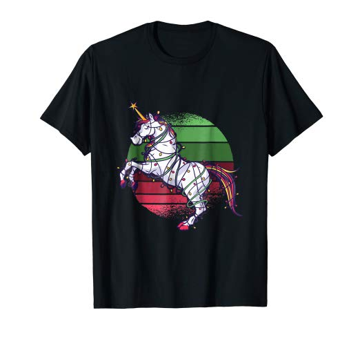 Amazon Com  Unicorn Christmas Tree Lights Funny Xmas T