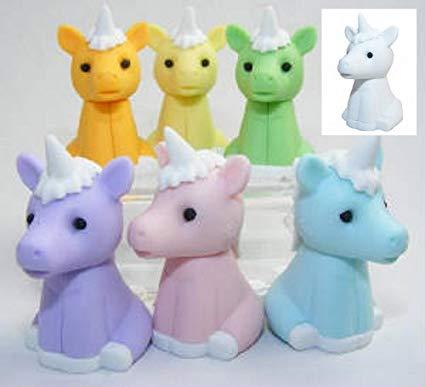 Amazon Com  Unicorn Eraser Made In Japan Iwako 6 Pcs  Toys & Games