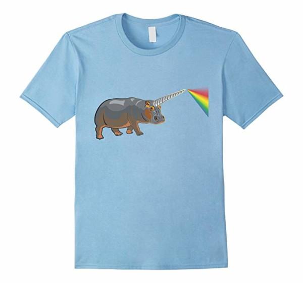 Amazon Com  Unicorn Hippo Magical Rainbow Animal T