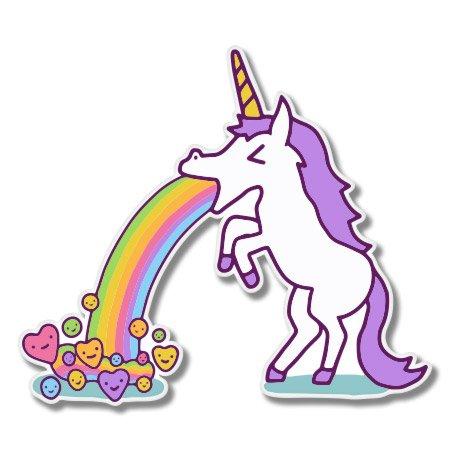 Amazon Com  Unicorn Puking Rainbows Vinyl Sticker