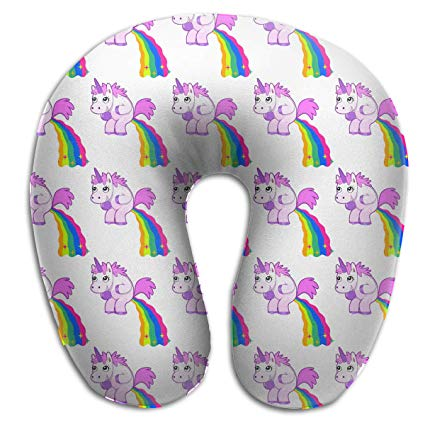 Amazon Com  Zzdow Unicorn Rainbow Travel Pillow, Get Wrapped In
