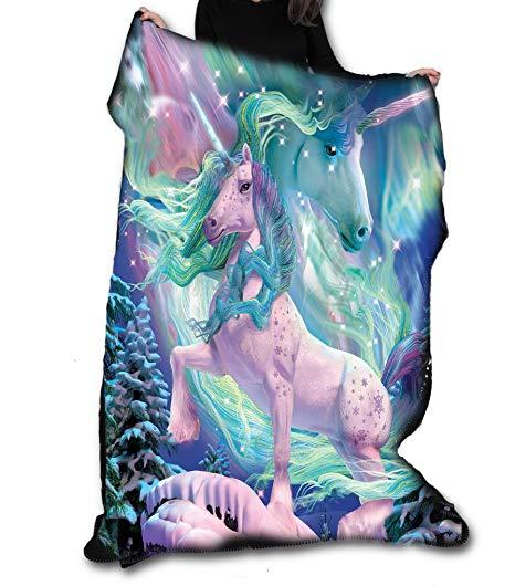 Aurora Unicorn Fleece Blanket   Throw 147cm X 147cm  Amazon Co Uk