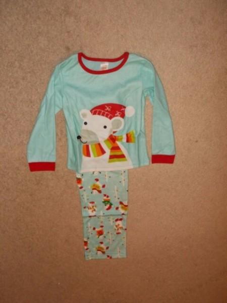 Avon Personalized Polar Bear Fleece Pajamas Size 4 5 Pj's Boy Girl
