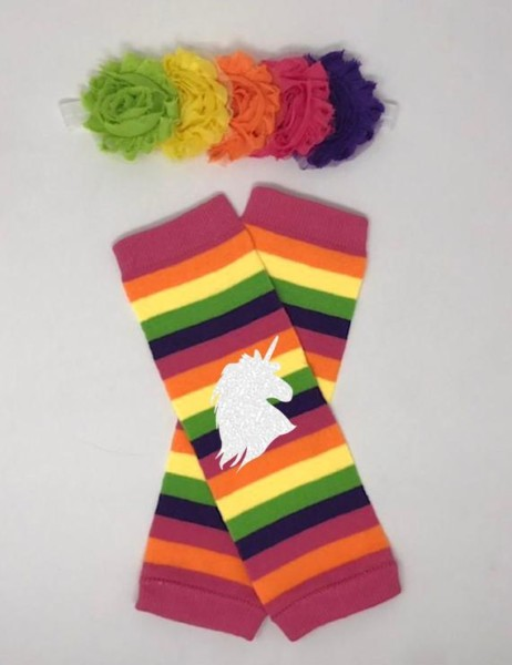 Baby Girl Leg Warmers Rainbow Unicorn Unicorn Leggings For