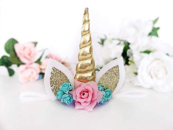 Baby Unicorn Headband Unicorn Hair Clip Unicorn Horn Halloween