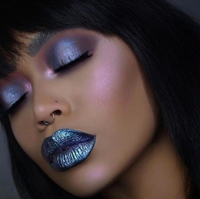 Black Unicorn  Black Rainbow Diamond Crushers Vegan Liptopper